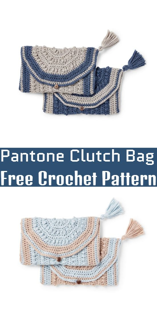 Free Crochet Pantone Clutch Bag Pattern