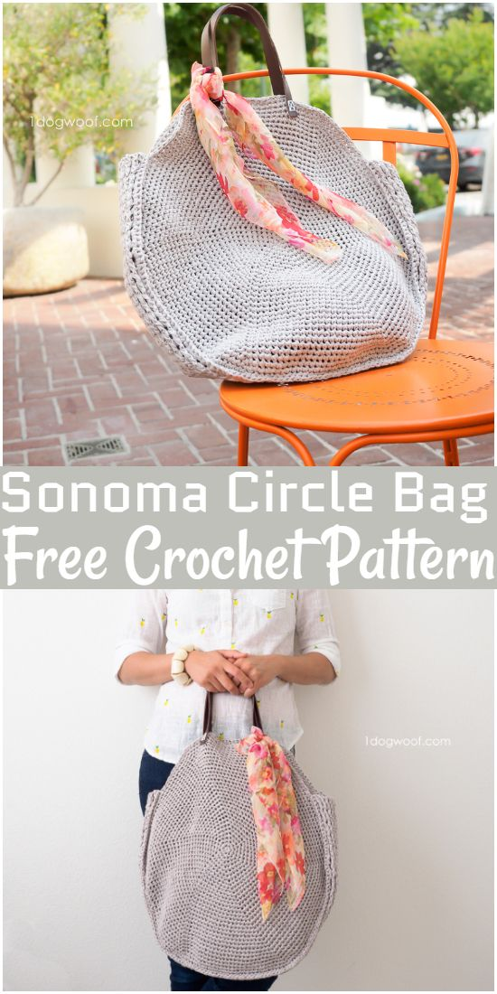 Free Crochet Sonoma Circle Bag Pattern