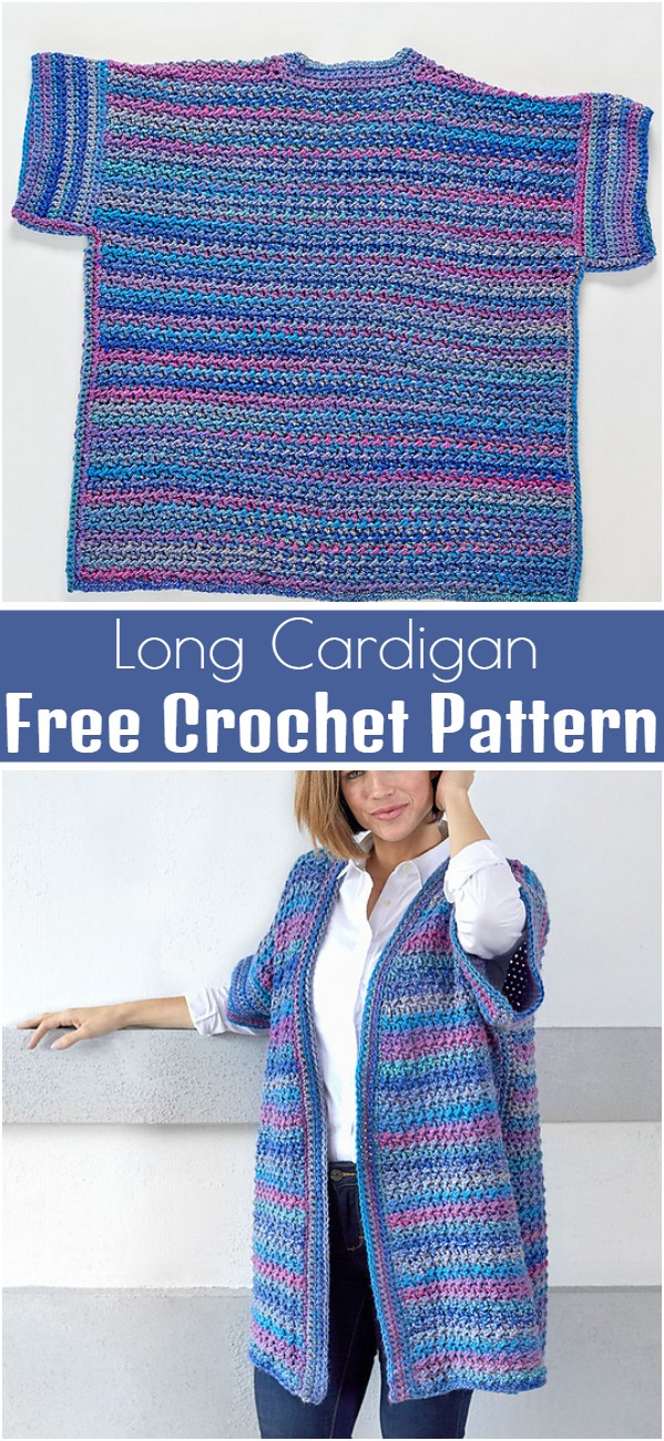 Long Cardigan Free Crochet Pattern