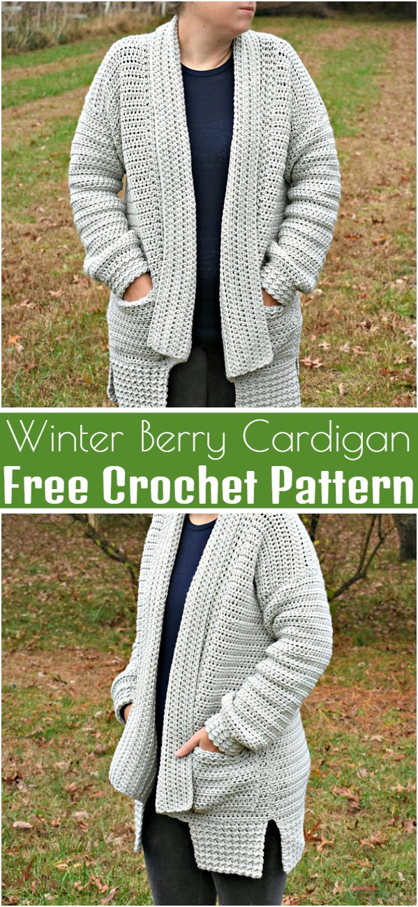 Winter Berry Cardigan Free Crochet Pattern
