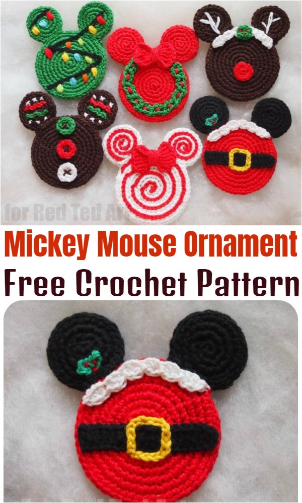 Crochet Mickey Mouse Ornament