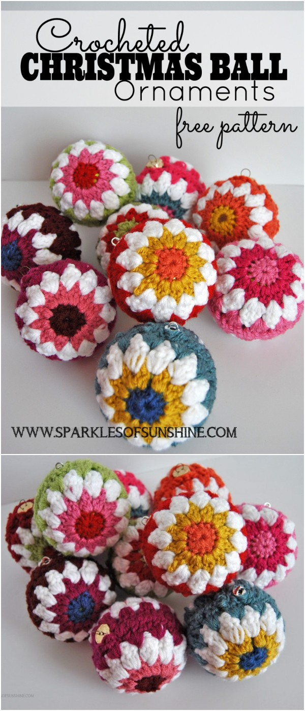 Crocheted Christmas Ball Ornaments