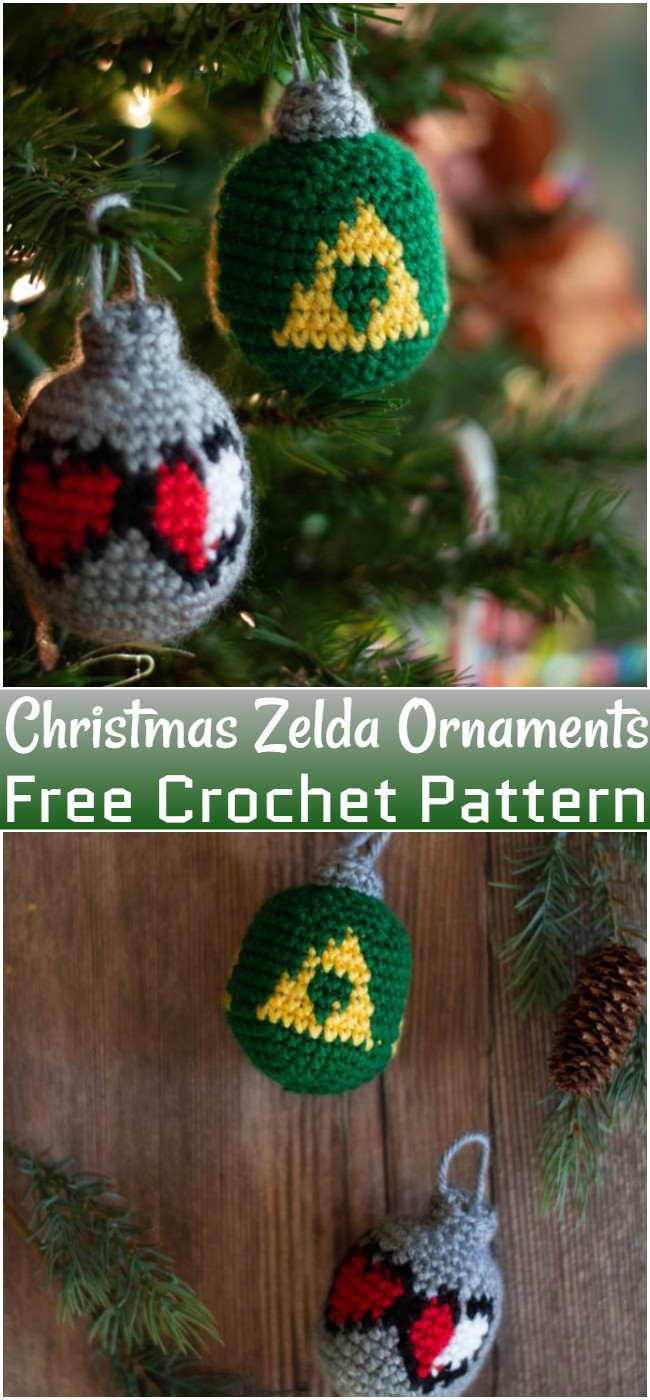 Free Crochet Christmas Zelda Ornaments Pattern