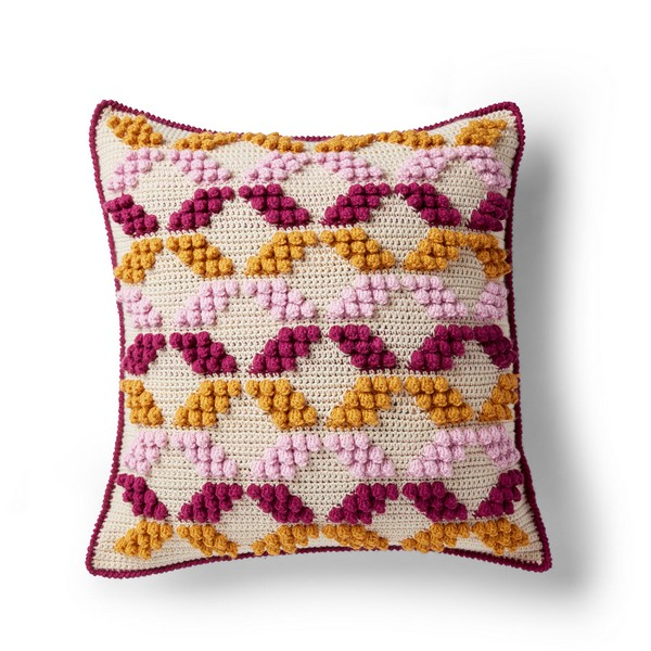 Geo-Pop Crochet Pillow