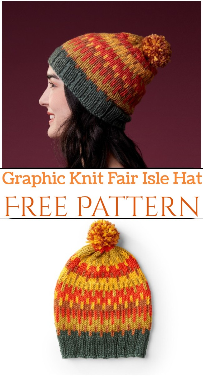 Graphic Knit Fair Isle Hat