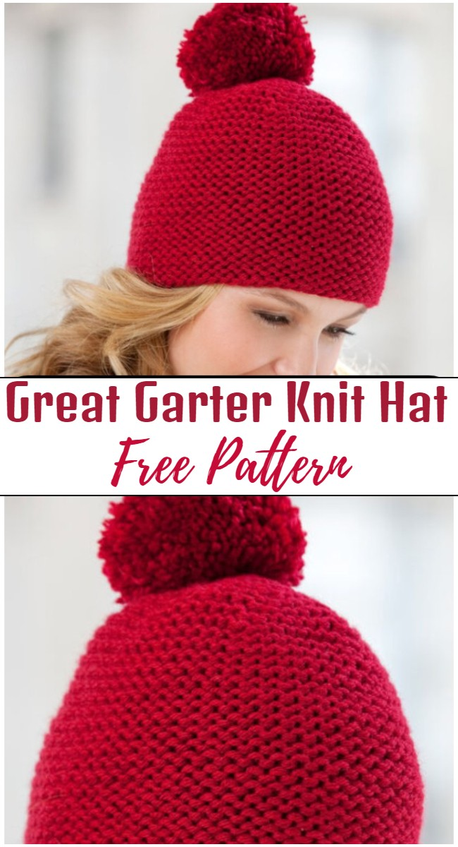 Great Garter Knit Hat