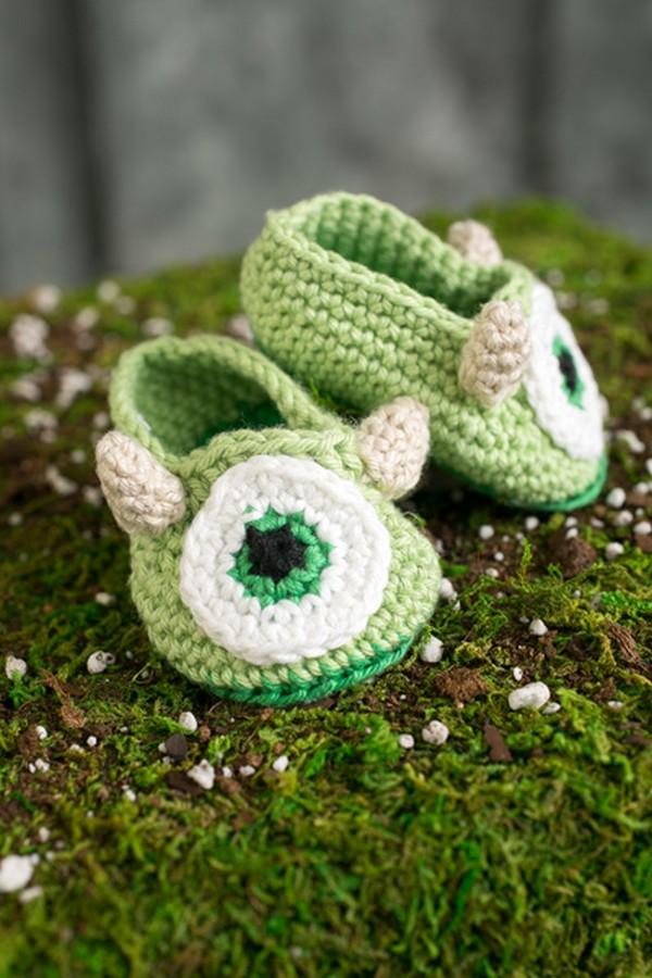 Monster Baby Booties