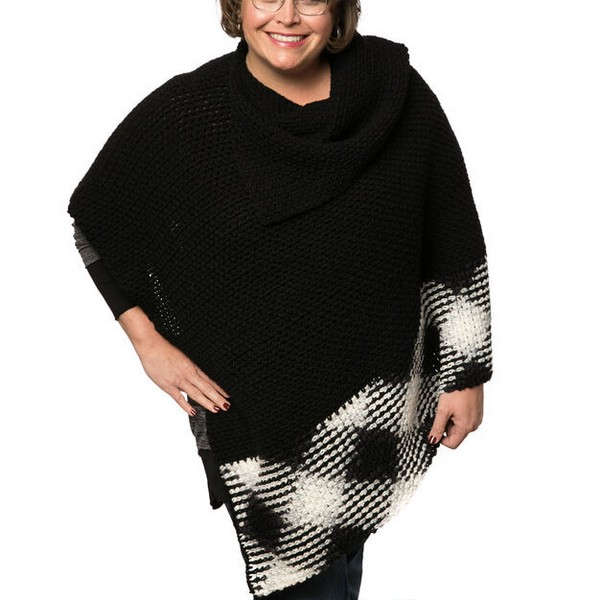Planned Pooling Argyle Poncho