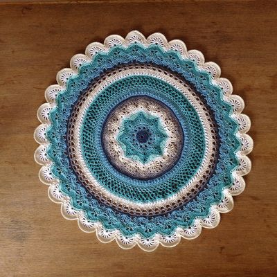 Crochet Mini Rings Of Change Doily Pattern