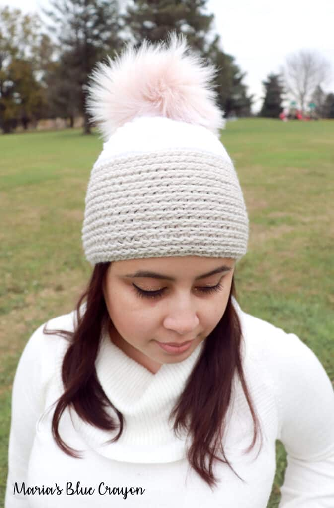 Crochet A Faux Knit Hat