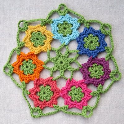 Free Crochet April Garden Doily Pattern