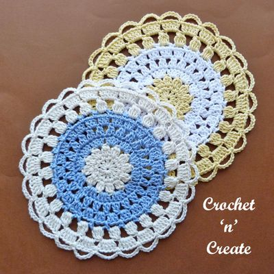 Free Crochet Cotton Lace  Doily Pattern