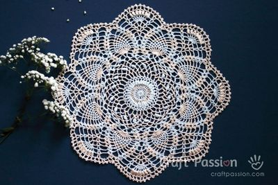 Free Crochet Pineapple Doily Pattern