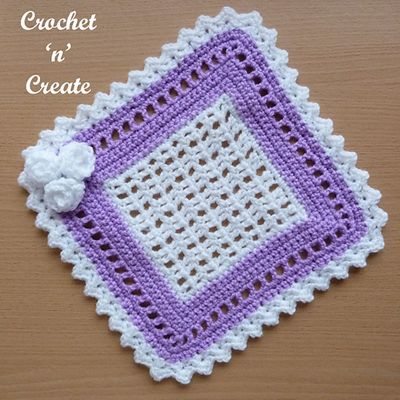 Free Crochet Square Lace Doily Pattern