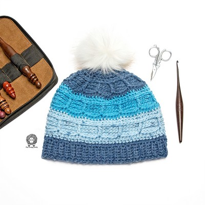 Juneau Blues Beanie – Free Crochet Hat Pattern