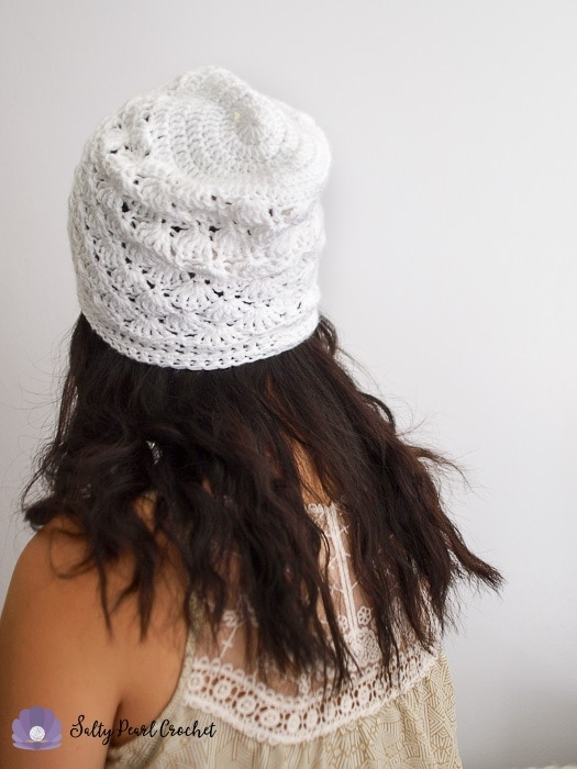 Venus Shell Slouch Hat Crochet Pattern